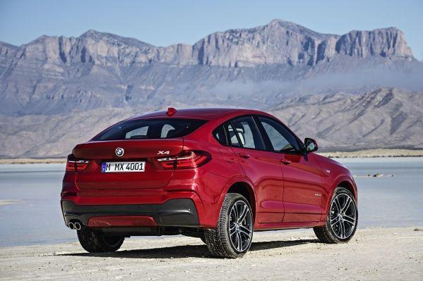 BMW X4. Nu van de achterkant